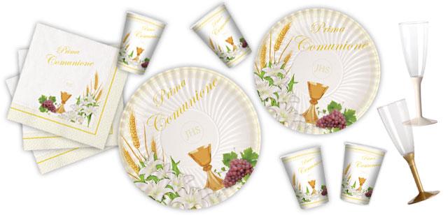 La prima comunione con il coordinato lily bigparty blog - Addobbo tavola prima comunione ...