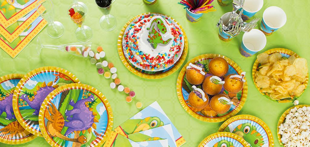 piatti feste in carta dinosauri