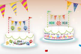 decorazioni torte in carta