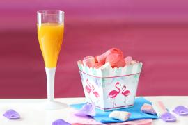 piatto in carta per feste con fenicotteri rosa